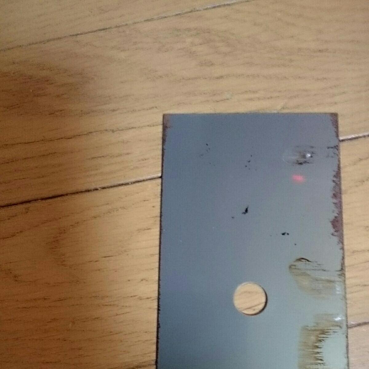 お値打ち鋼材 切板 平鋼 鋼板 鉄板 フラットバー 鉄 補強材 ストッパー 穴明き 薄板t0.5㎜ 長さ約235×75㎜ 新品 作業台 DlY等々に_画像8