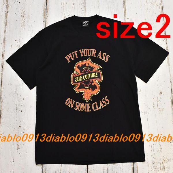 サイズ2 新品 SC Subculture サブカルチャー 21SS PUT YOUR ASS T SHIRT TYPE-C Tシャツ ブラック_画像1