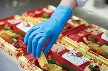 ブルー Medium ダンロップ ホームプロダクツ ゴム手袋 使い捨て ニトリル 極薄 パウダーフリー ブルー M 調理 掃除_画像7