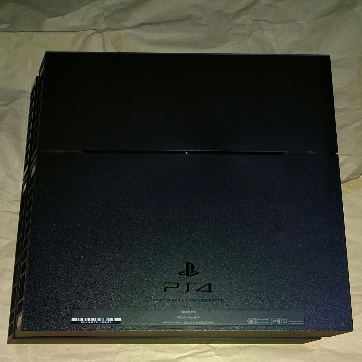 動作確認済み  PS4 本体 黒 ジェットブラック PlayStation4