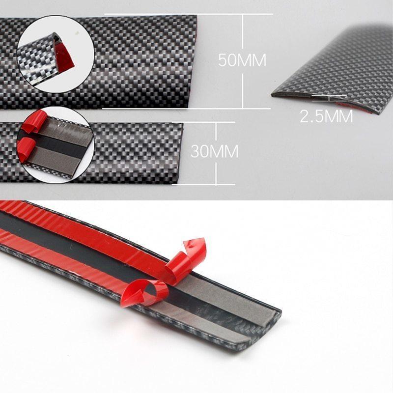 新品車のドアプロテクターカーボンファイバードアゴム車のステッカー 5Dスクラッチプルーフ自動ドア敷居保護商品成形0HV9_画像6
