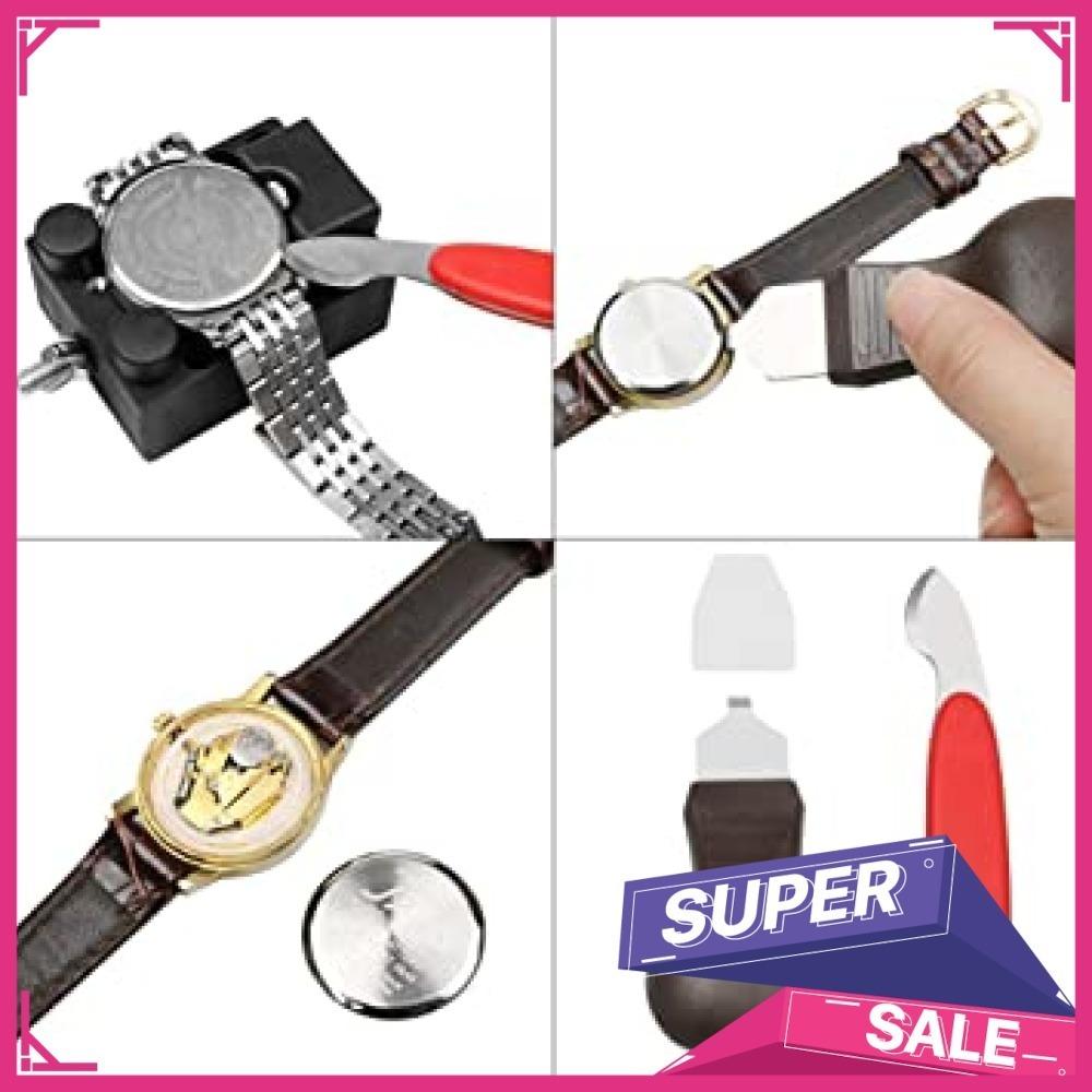 新品黒色 時計工具 時計修理 電池交換 腕時計ベルト調整 バンド調整 時計道具セット 時計用工具 収納便利 腕時XXBV_画像4