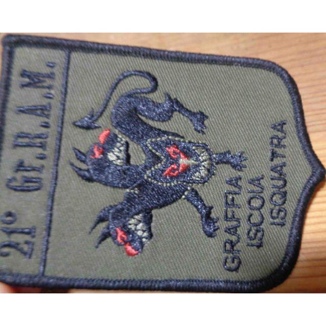 軍色◆新品未使用 イタリア軍 21° Gr.R.A.M.3頭犬 狼 刺繍ワッペン(パッチ)◆イタリア語◇サバゲー・ミリタリー◎激シブ_画像3