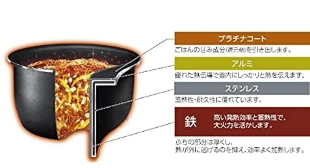 象印 圧力IH炊飯ジャー(5.5合炊き)極め炊き NW-JW10-BA