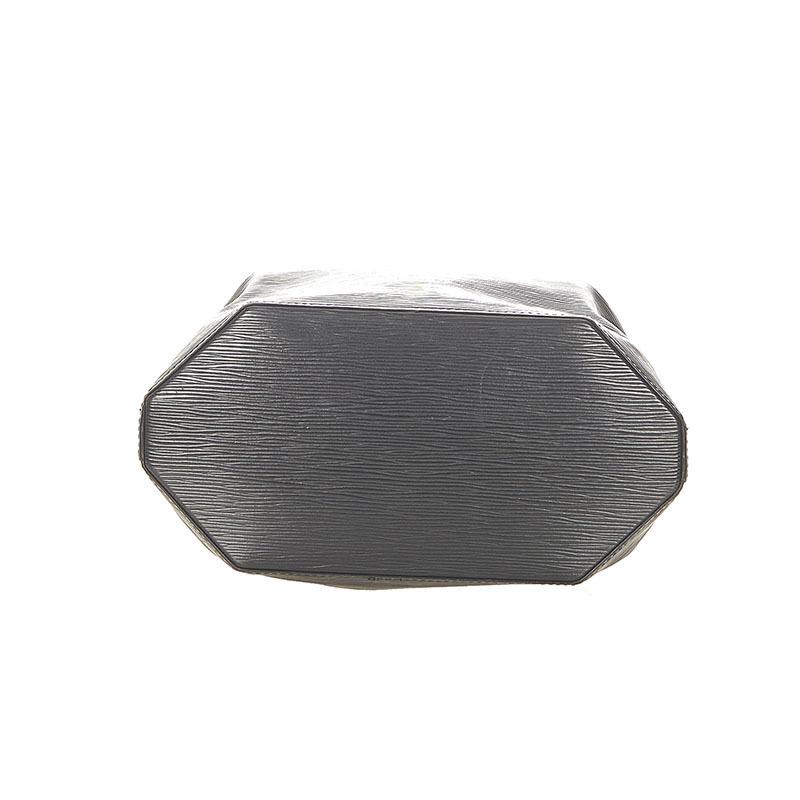 ルイ ヴィトン エピ サックデポール M80155 ブラック ノワール レザー ショルダーバッグ レディース LOUIS VUITTON 中古_画像4