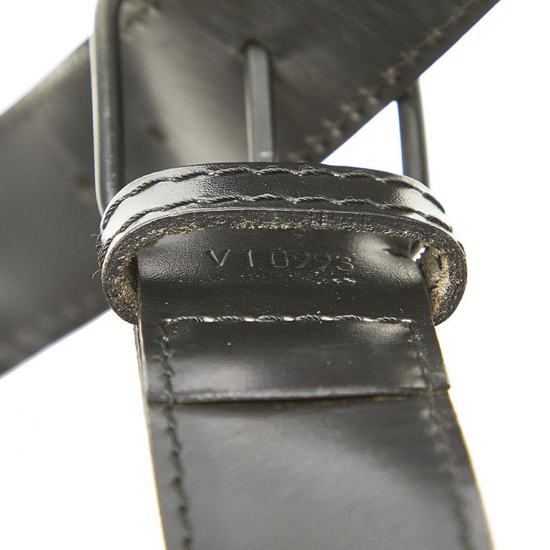 ルイ ヴィトン エピ サックデポール M80155 ブラック ノワール レザー ショルダーバッグ レディース LOUIS VUITTON 中古_画像6