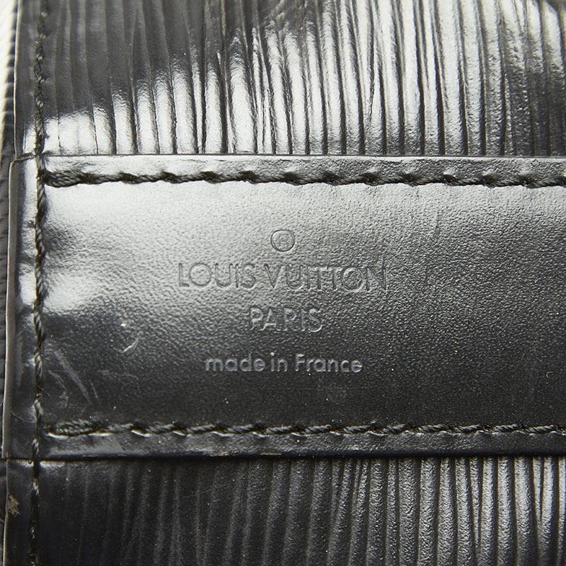 ルイ ヴィトン エピ サックデポール M80155 ブラック ノワール レザー ショルダーバッグ レディース LOUIS VUITTON 中古_画像5