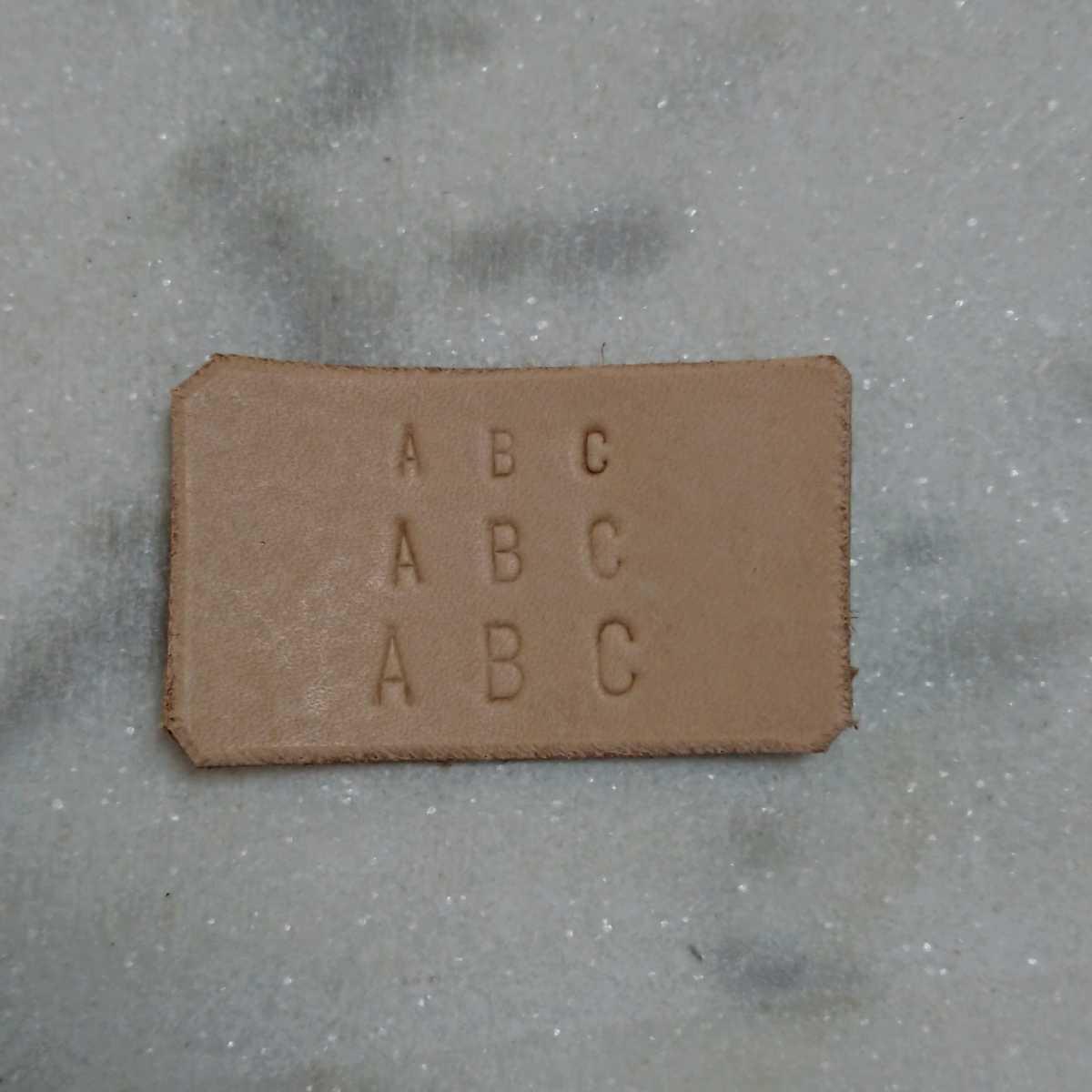 レザークラフト・アクセサリー用 刻印 アルファベット 4㎜