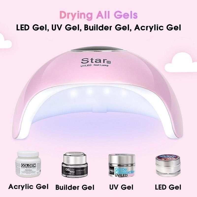 【人気】 UV LED ライト☆ジェルネイル ネイルアート ネイルケア 爪 ツール 道具 ランプ 硬化 ドライヤー 乾燥 USB ピンク_画像3