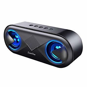ブラック ZoeeTree bluetooth スピーカー ワイヤレススピーカー 高音質 重低音 充電式 大音量 ブルートゥース_画像1