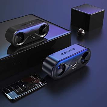 ブラック ZoeeTree bluetooth スピーカー ワイヤレススピーカー 高音質 重低音 充電式 大音量 ブルートゥース_画像7