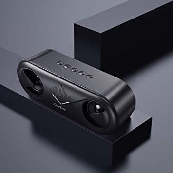 ブラック ZoeeTree bluetooth スピーカー ワイヤレススピーカー 高音質 重低音 充電式 大音量 ブルートゥース_画像6