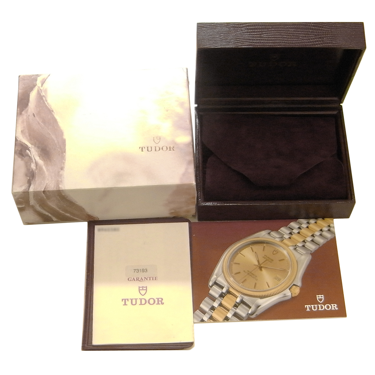 チュードル プリンスデイト ミニサブ 73193 自動巻き オートマ ゴールド文字盤 コンビ YG/SS ボーイズ チューダー TUDOR MINI-SUB_画像5