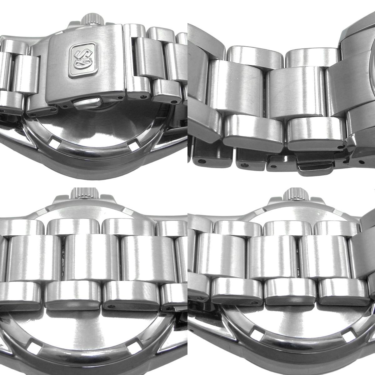セイコー グランドセイコー スプリングドライブ デイト メンズ 自動巻き オートマ SBGA015 9R65-0AG0 ライトスチールブルー文字盤 SEIKO GS_画像4
