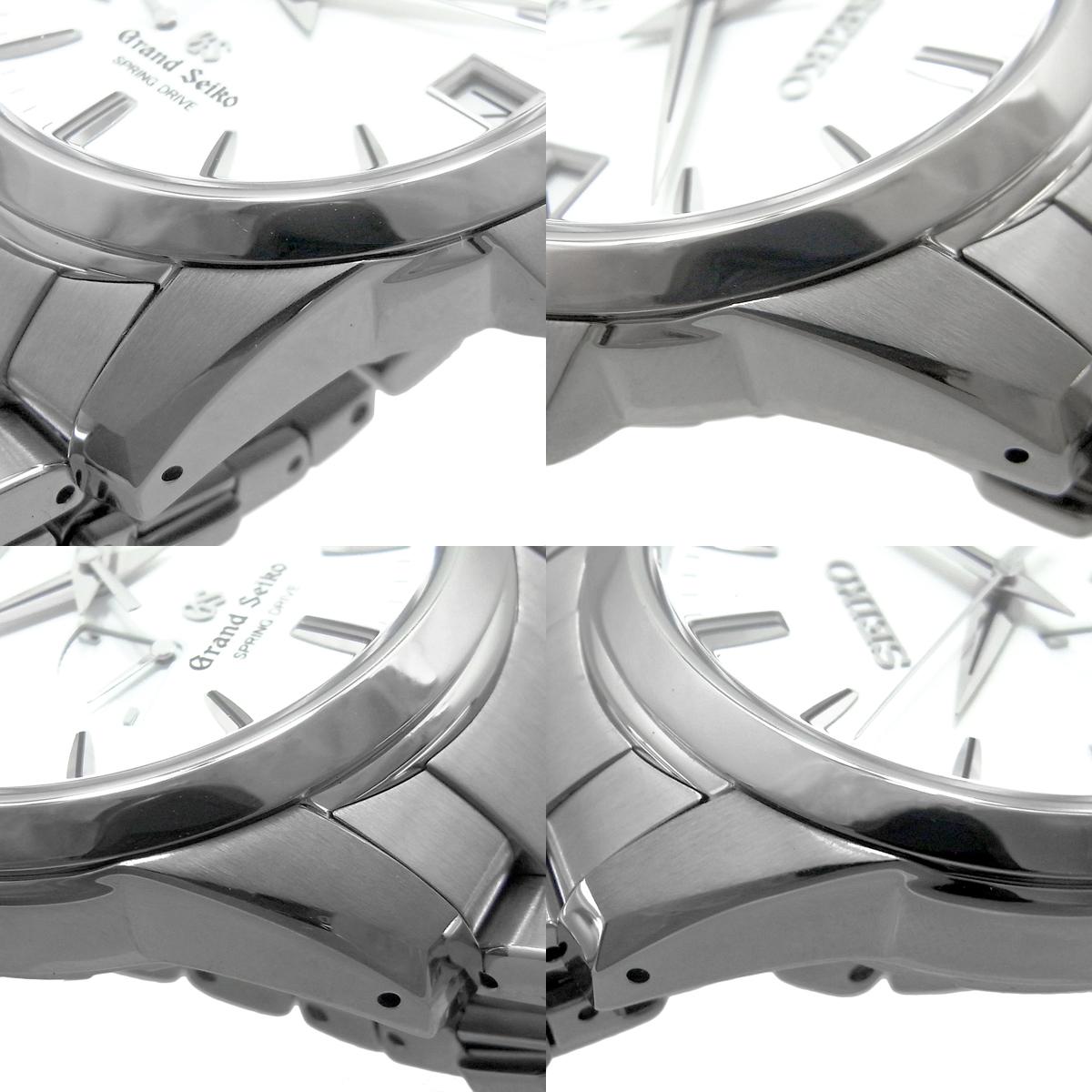 セイコー グランドセイコー スプリングドライブ デイト メンズ 自動巻き オートマ SBGA015 9R65-0AG0 ライトスチールブルー文字盤 SEIKO GS_画像3