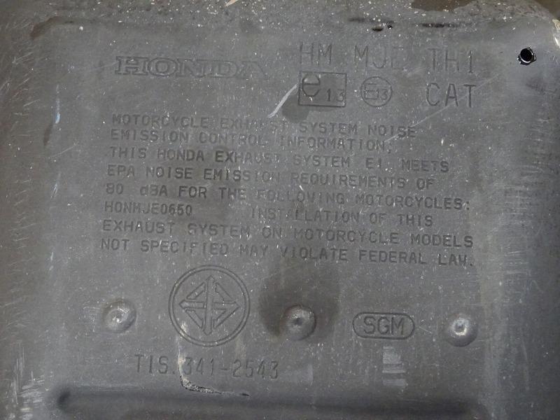 【210617】■ CBR650F(RC83) マフラー サイレンサー エキパイ HM MJE TH1 純正戻し!? 車検用に!?_画像4