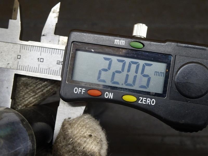 【210620】FZ-1 フェザー(RN17J)◇ 社外フロントアクスルシャフト クロモリ ゼロポイントシャフト PEO R1用?? 【FAZER RN21J_画像8