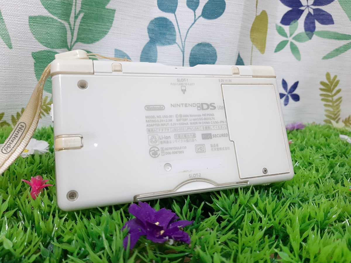 【動作確認済み】ニンテンドーDS Lite Nintendo DS Lite ニンテンドーDSライト DS Lite クリスタルホワイト ホワイト 白 充電器付き