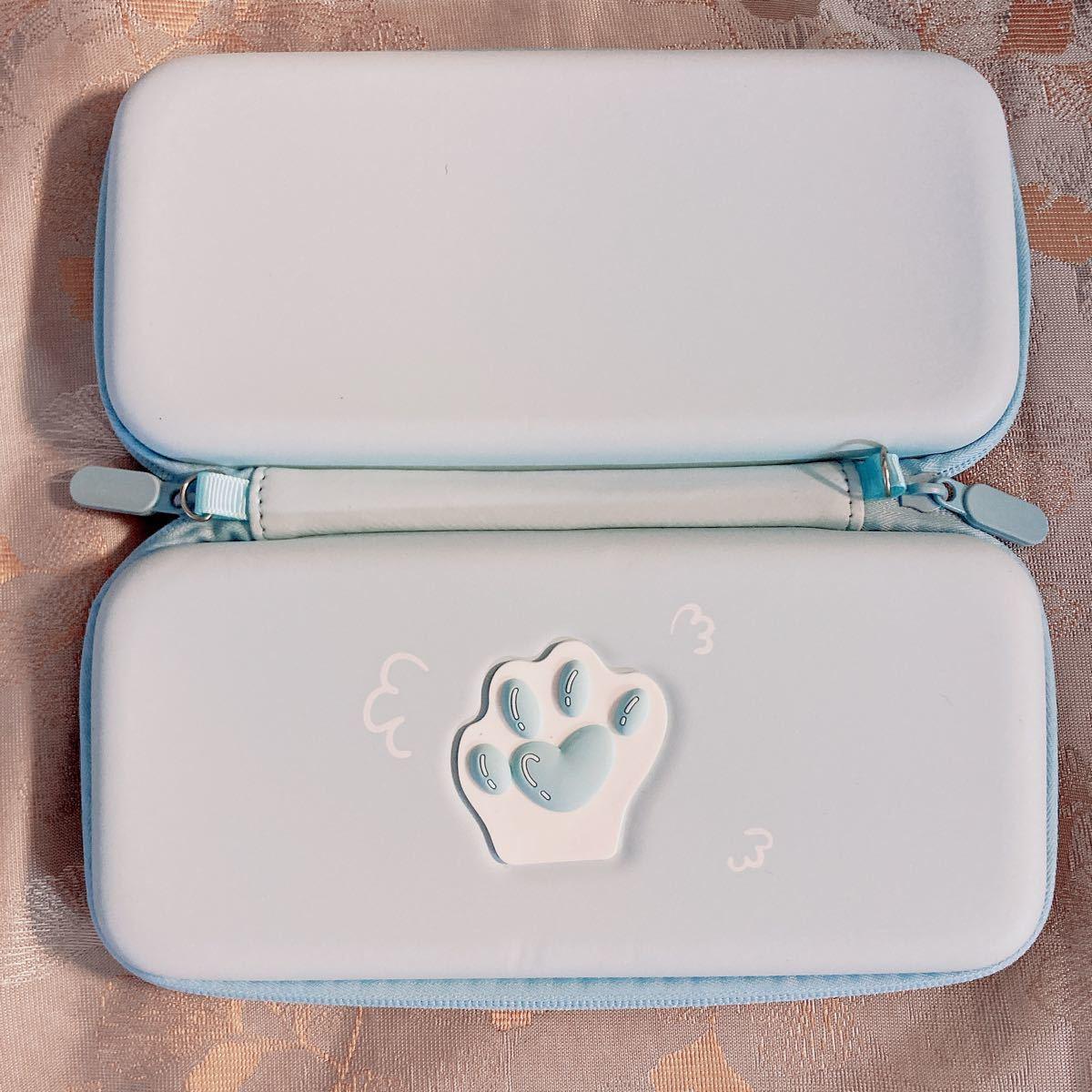 任天堂switch Lite収納キャリングポーチ ニンテンドースイッチライト猫肉球保護ケース ショルダー&ハンドストラップ付き
