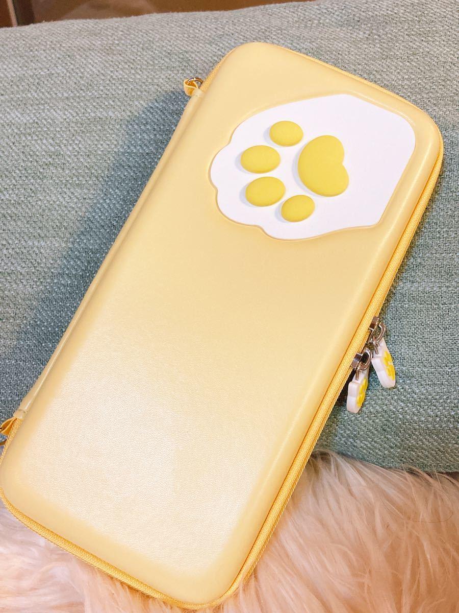 任天堂switch収納キャリングポーチ ニンテンドースイッチかわいい猫肉球スイッチ保護ケースカバー switch周辺機器