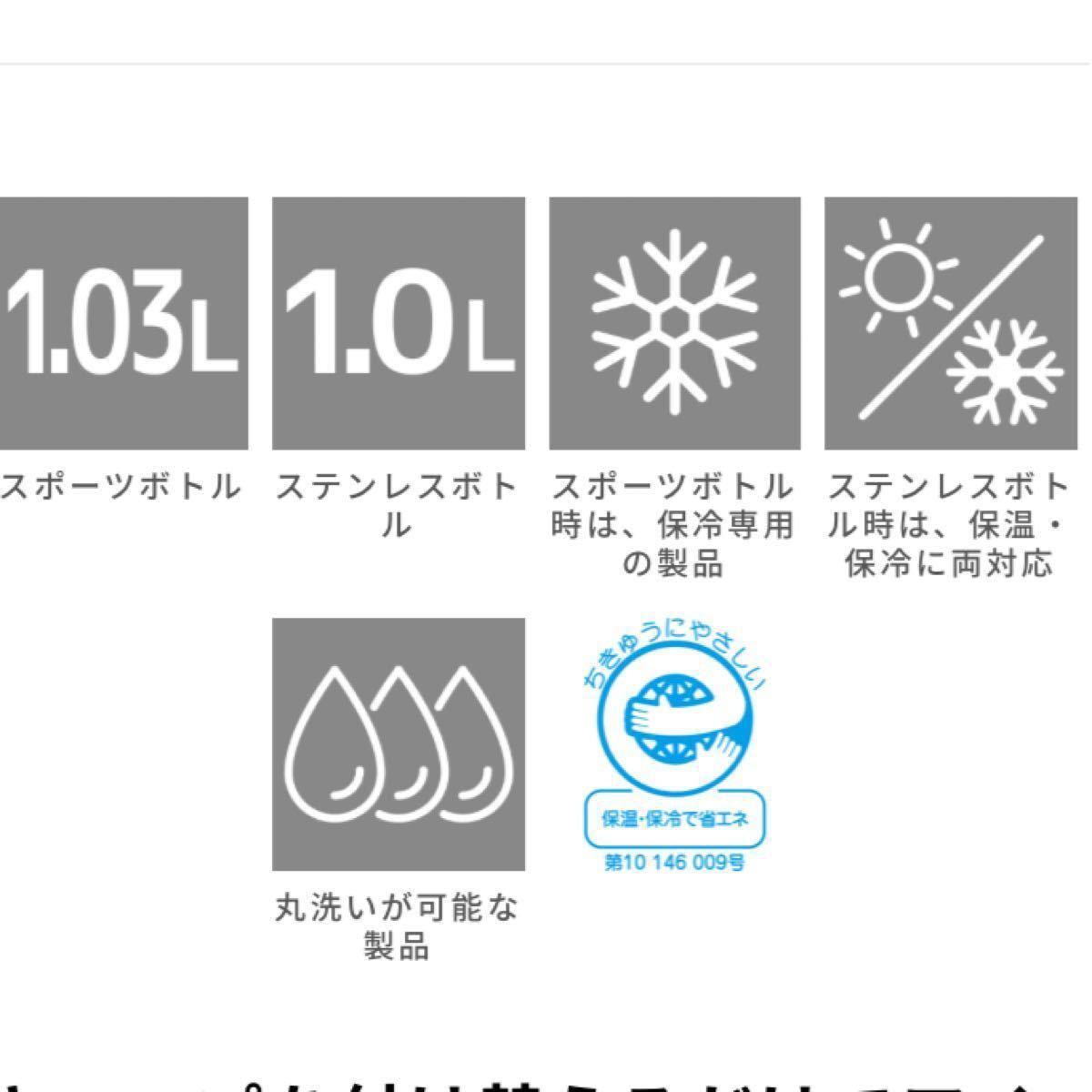 THERMOS サーモス 真空断熱 2ウェイボトル FHO-1000WF チェックブラウン(CHBR) 1L  水筒1リットル