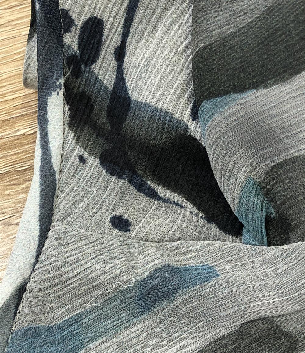 アルマーニコレッツォーニ ノースリーブシャツ シルク100% レディース SIZE 38 (S) ARMANI COLLEZIONI_画像6