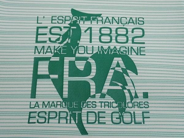 送料無料 le coq sportif GOLF COLLECTION ポロシャツ・LL◆ルコックゴルフ/ドライ生地/ボーダー柄/21*6*3-21_画像7