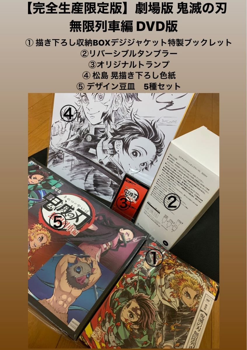 【完全生産限定版】鬼滅の刃 無限列車編 DVD版 5点セット