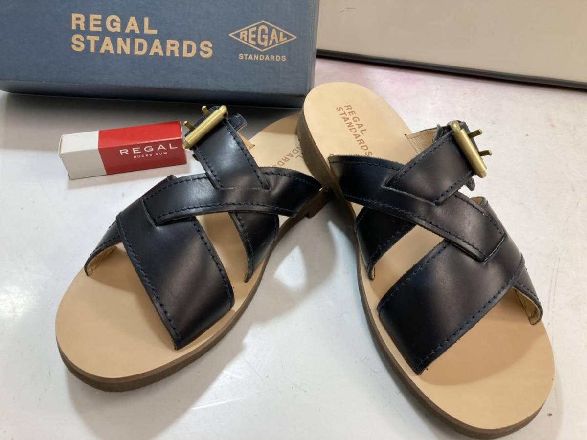 (6-105)リーガルスタンダード サンダル XL 靴 メンズ シューズ ネイビー 64KR RE