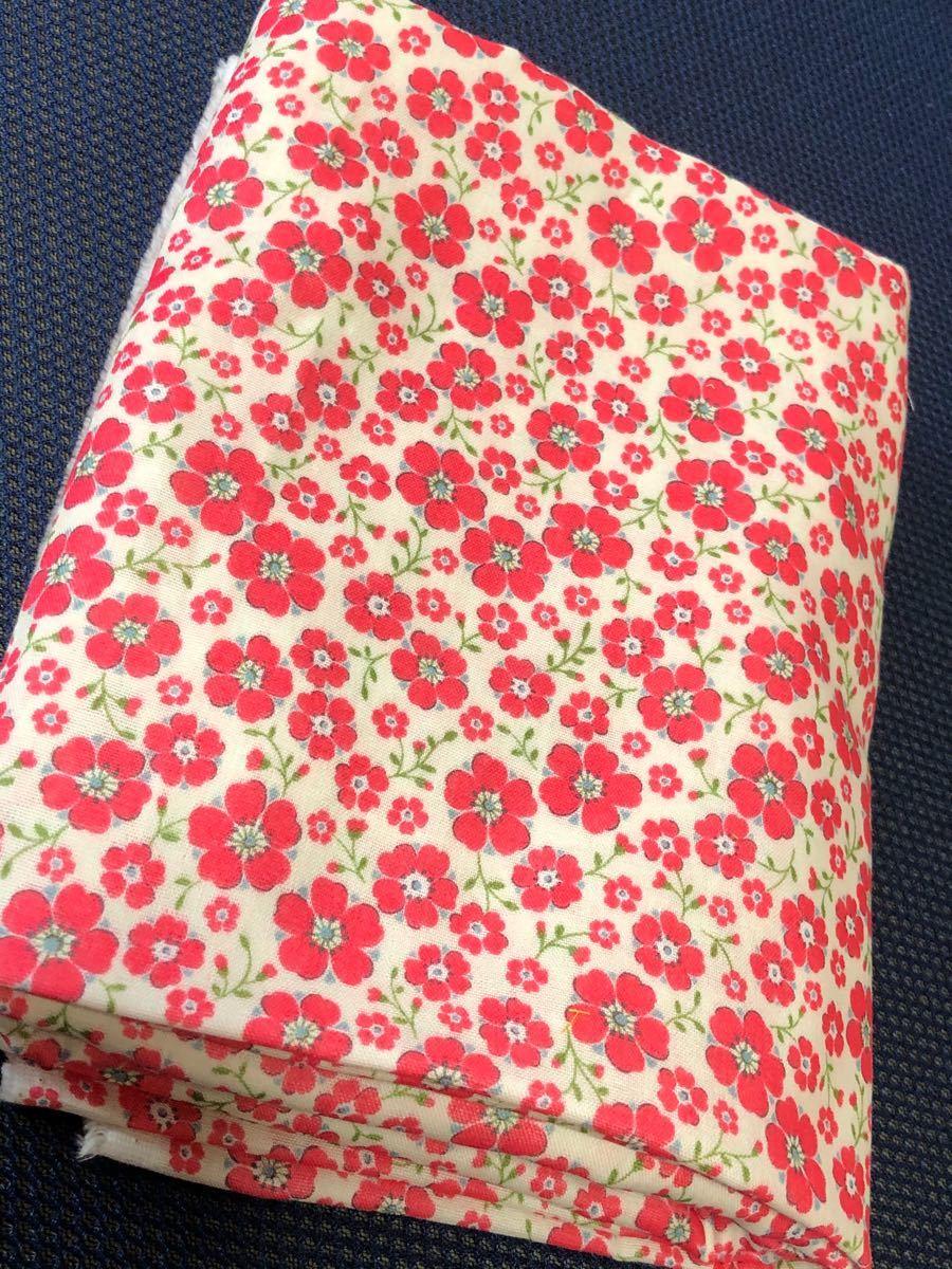 ダブルガーゼ 小花柄 ピンク