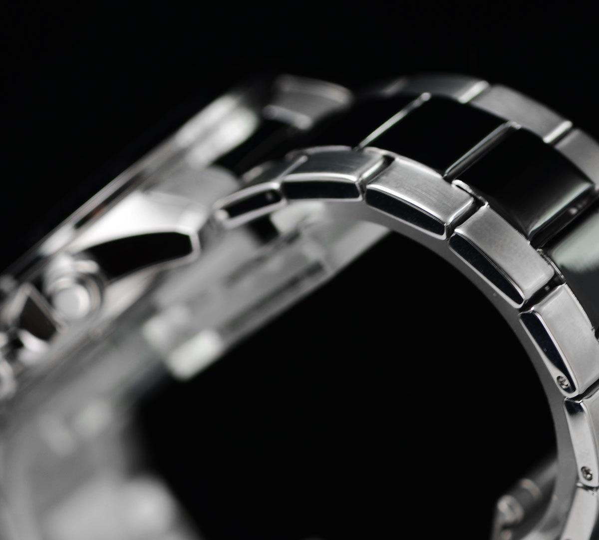 1円開始 カシオEDIFICEエディフィス 逆輸入 ブラックコンビネーション 100m防水 クロノグラフ 腕時計 新品 未使用 CASIO メンズ 本物_画像5