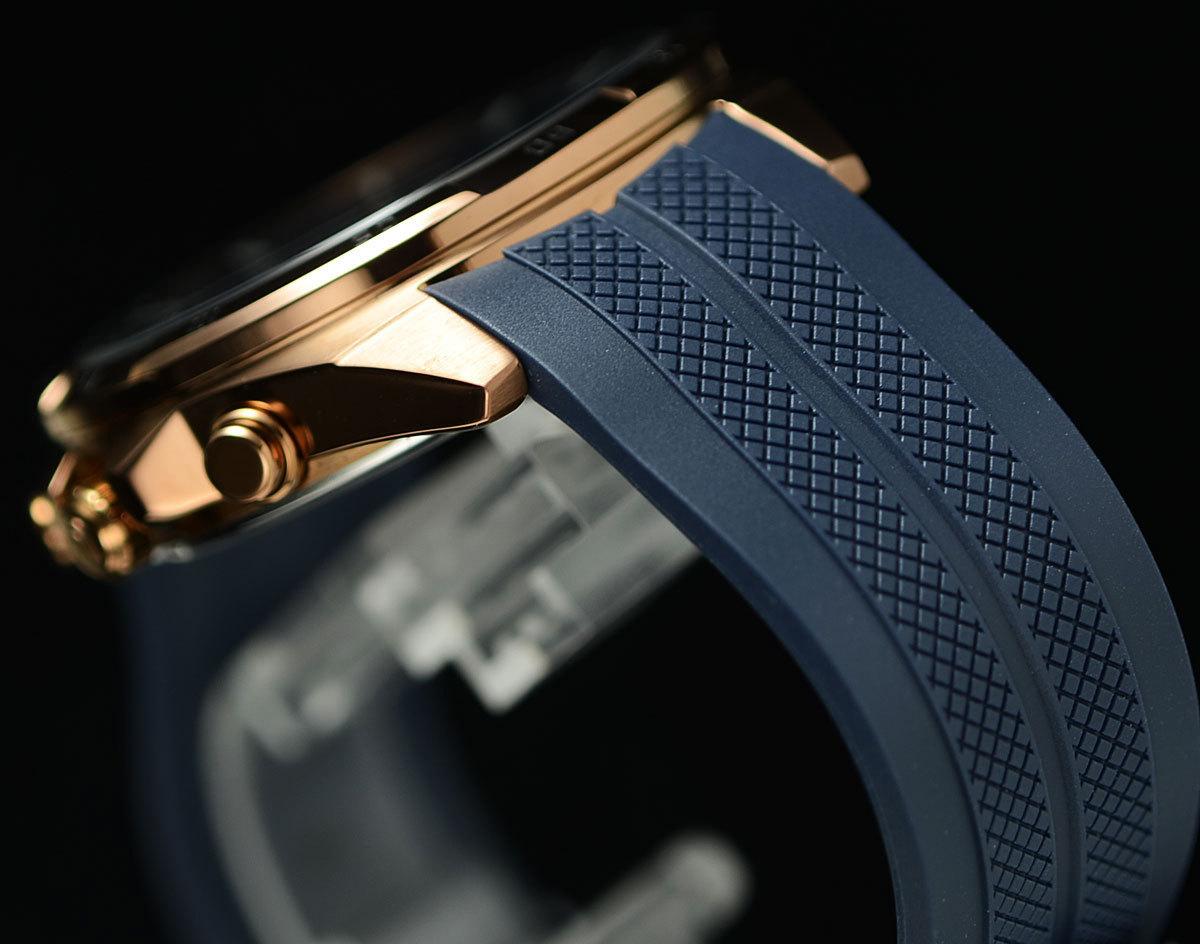 1円開始 カシオ 逆輸入EDIFICE 深みあるダークブルー&豪華ブロンズ 100m防水クロノグラフ 日本未発売 CASIO未使用メンズ カシオ腕時計_落ち着いた色合い