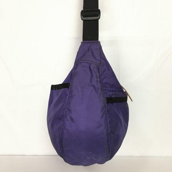 グレゴリー GREGORY ショルダーバッグ 紫 無地 ロゴワッペン 管NO.B8-28