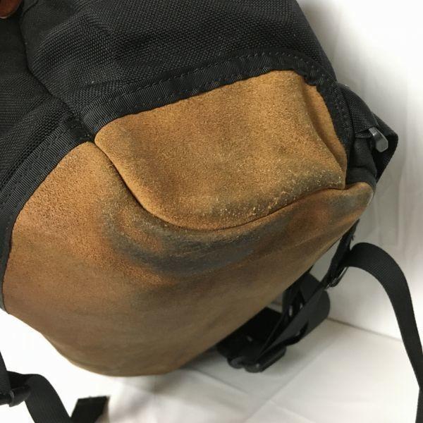 グレゴリー GREGORY メッセンジャーバッグ 大型ショルダーバッグ 黒×茶  管NO.WB8-9