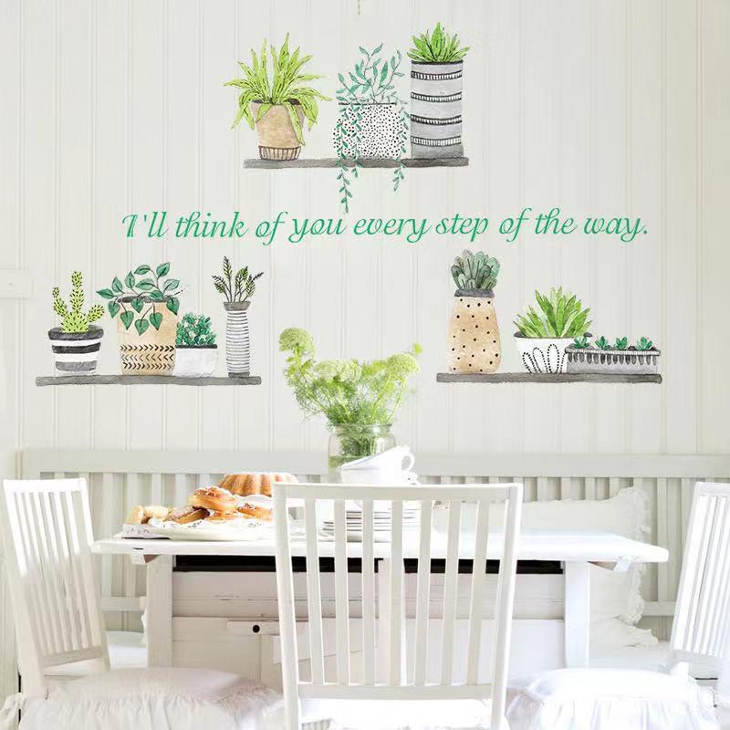 (NO.235)DIY剥がせる壁飾りウォールステッカー綺麗な仕上がり北欧風盆栽_画像1