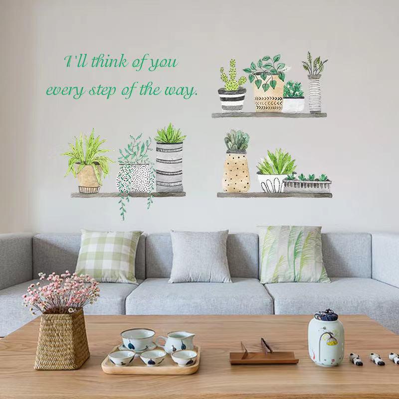 (NO.235)DIY剥がせる壁飾りウォールステッカー綺麗な仕上がり北欧風盆栽_画像2