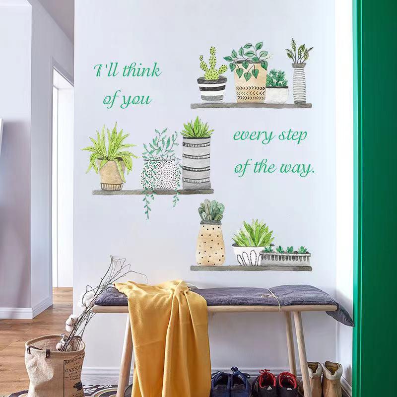 (NO.235)DIY剥がせる壁飾りウォールステッカー綺麗な仕上がり北欧風盆栽_画像3