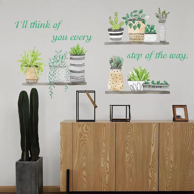 (NO.235)DIY剥がせる壁飾りウォールステッカー綺麗な仕上がり北欧風盆栽_画像5