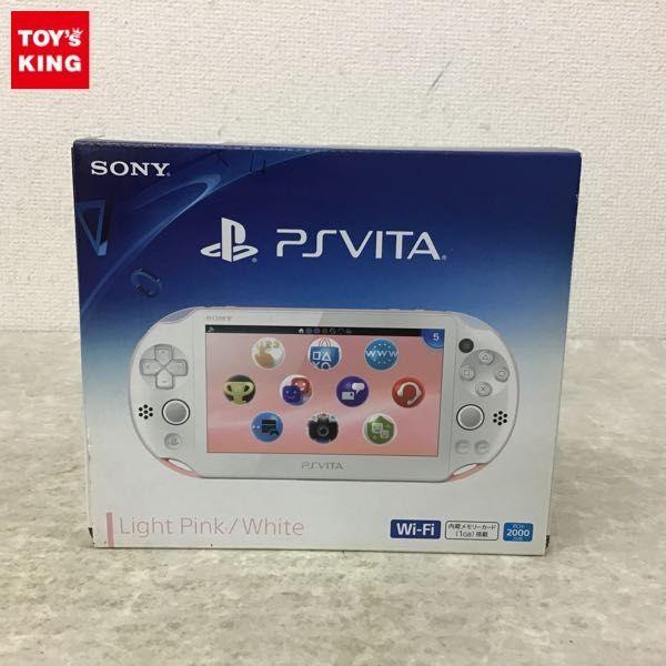 1円~ 欠品 動確済/初期化済 PS Vita PCH-2000ZA19 ライトピンク×ホワイト 本体