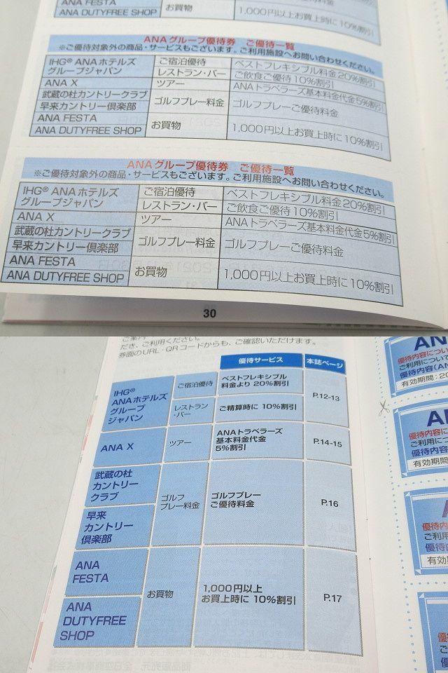◆未使用 全日本空輸 株主優待券 ANAグループ優待券 2021年上期分 宿泊・レストラン・バー・お買物等割引券冊子 最新版 2021.11.30まで◆_画像5