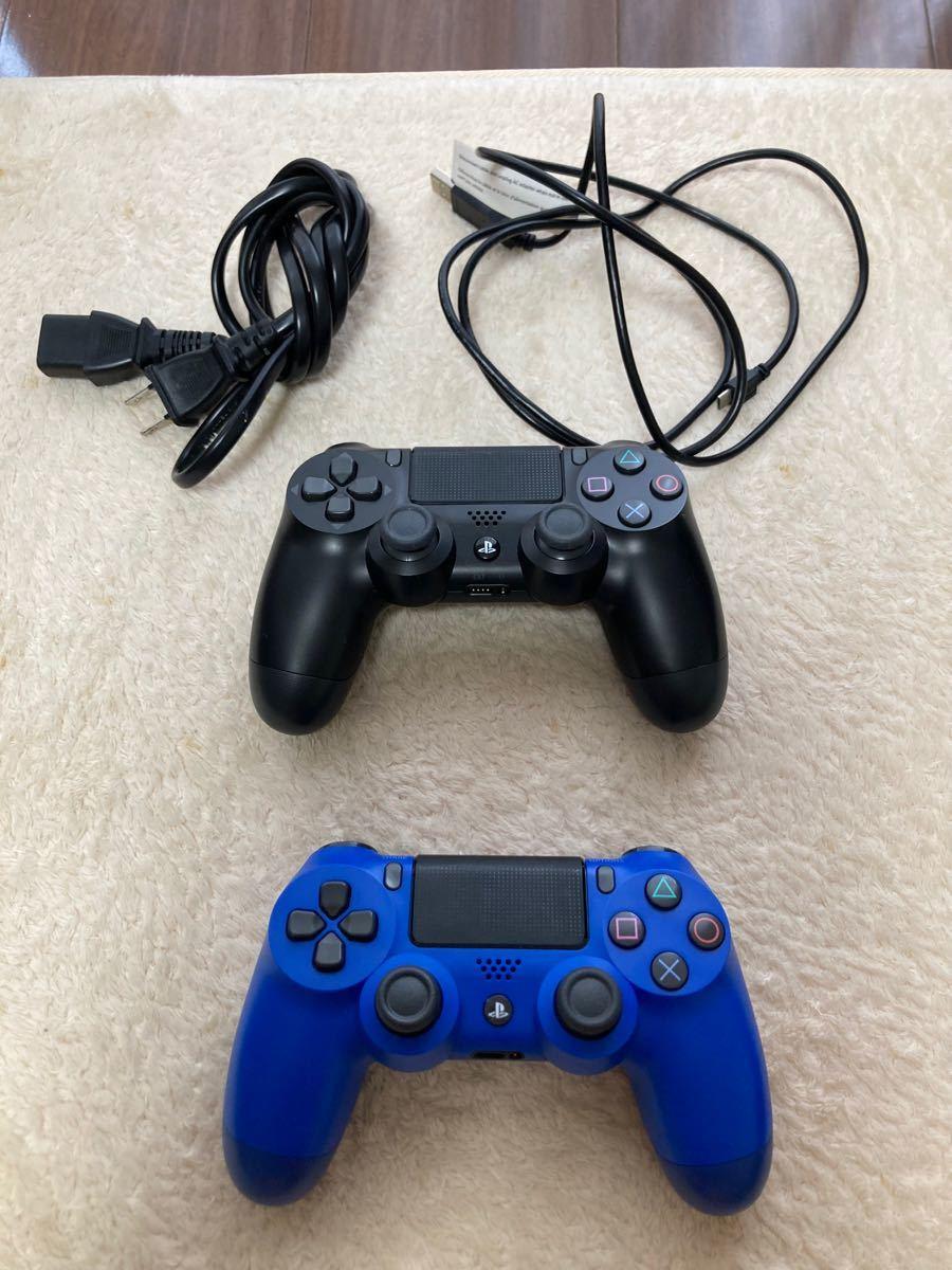 PS4本体 PlayStation4 Proジェット・ブラック PS4 1TB  本体 コントローラー2つ ケーブル類のみ