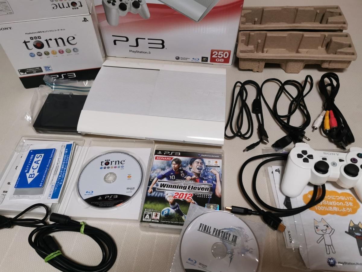 SONY PlayStation3 CECH-4000B 最終型プレステ3 ホワイト 250GB  トルネ torneなどセット!