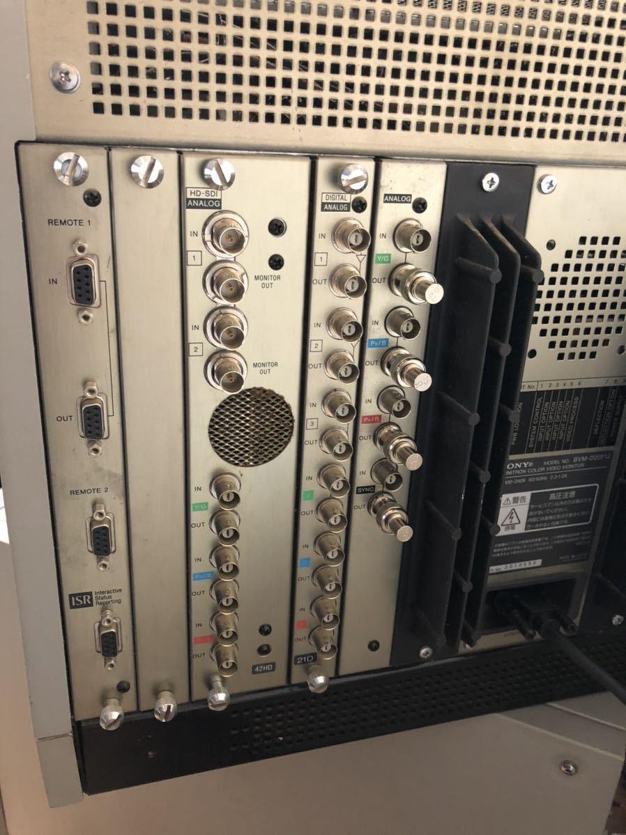 SONY 業務用 ビデオモニター BVM-D20F1J コントローラー BVM-10R 付属_画像5