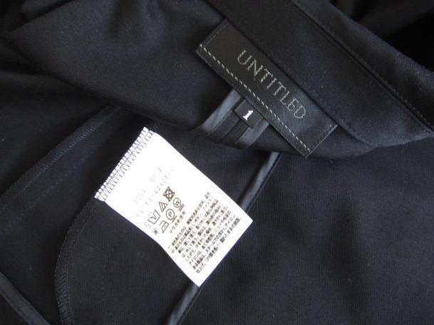 ◆アンタイトル UNTITLED 美品 洗える 黒 ジャケット_画像4