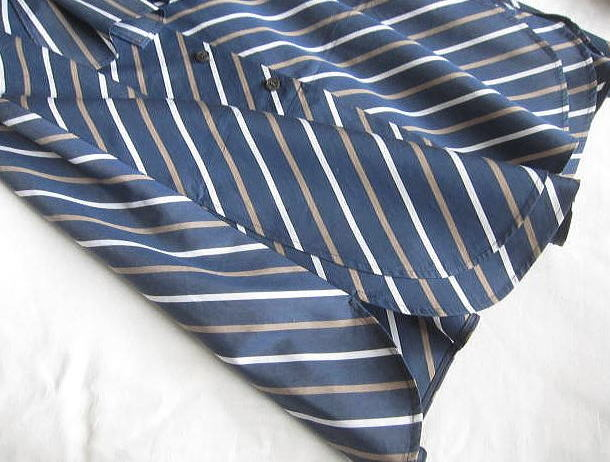 ◆自由区 美品 大きいサイズ ストライプ りぼん シャツ ワンピース_画像5