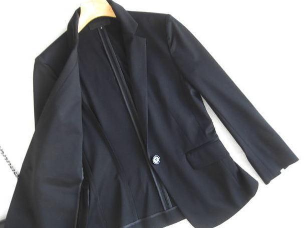◆アンタイトル UNTITLED 美品 洗える 黒 ジャケット_画像2