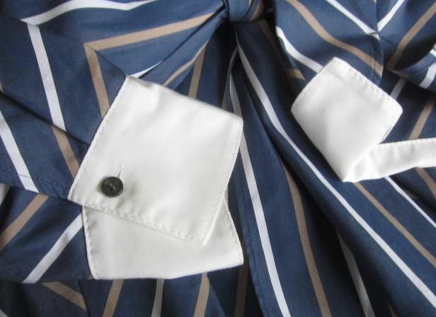 ◆自由区 美品 大きいサイズ ストライプ りぼん シャツ ワンピース_画像8
