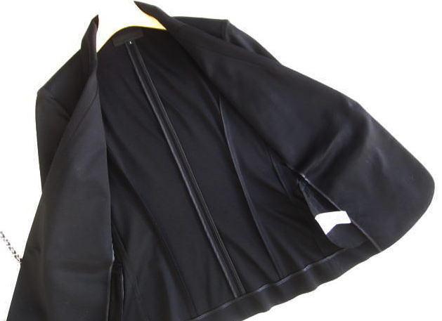 ◆アンタイトル UNTITLED 美品 洗える 黒 ジャケット_画像3