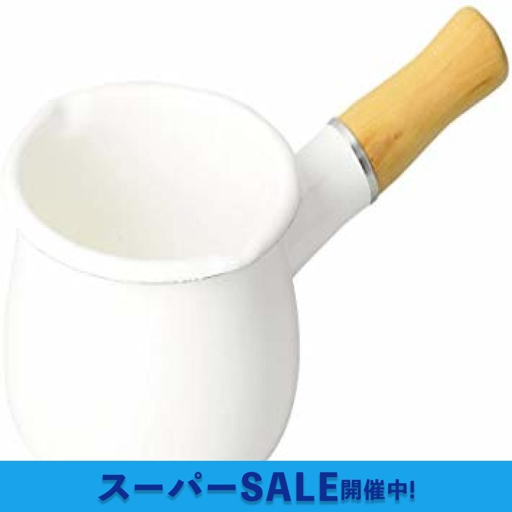 【即日発送★最安値】ホワイト 10cm パール金属 ミルクパン 10cm ホーロー ブランキッチン ホワイト HB-3676_画像1