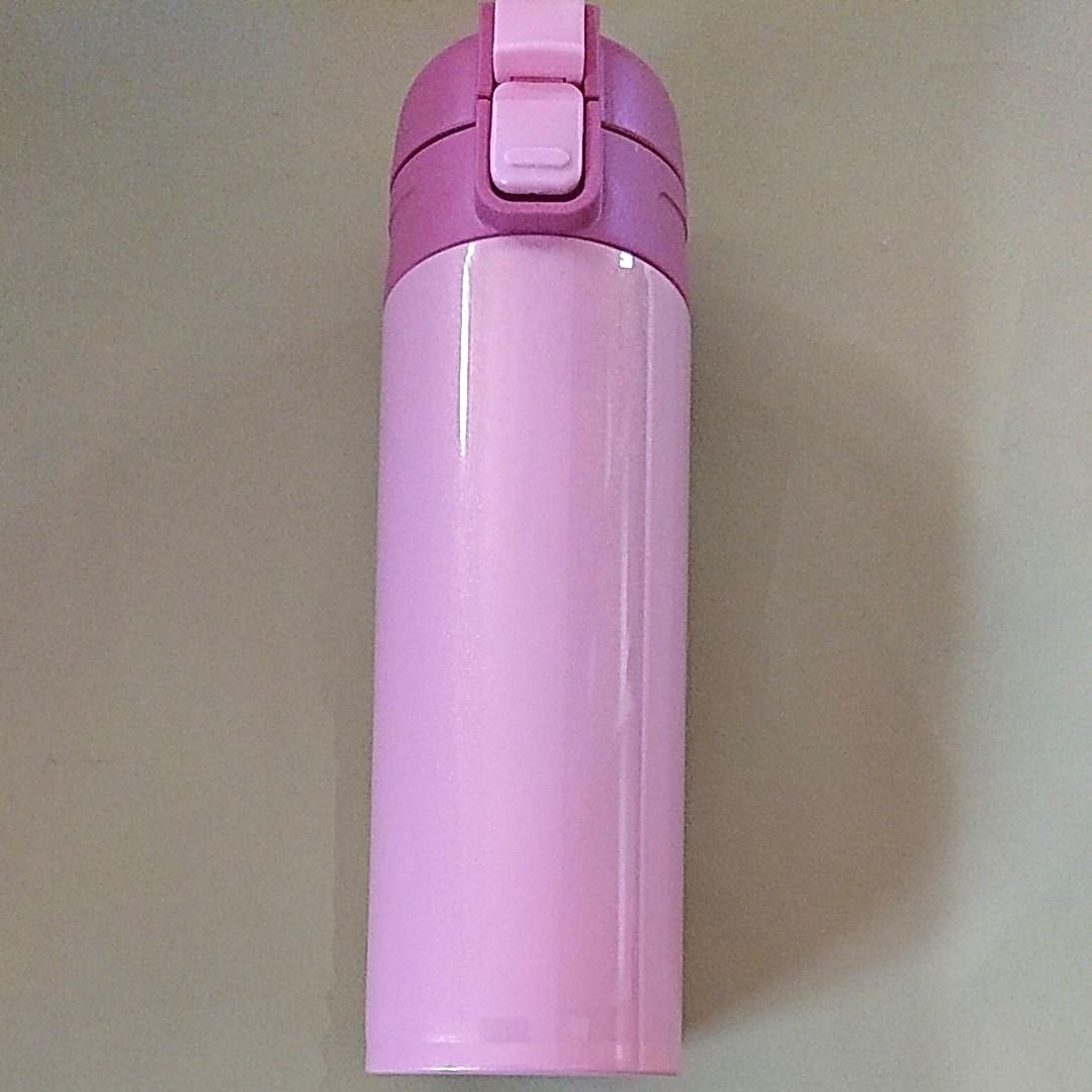 軽量 コンパクト ステンレス ワンタッチ マグボトル 350ml ピンク 水筒
